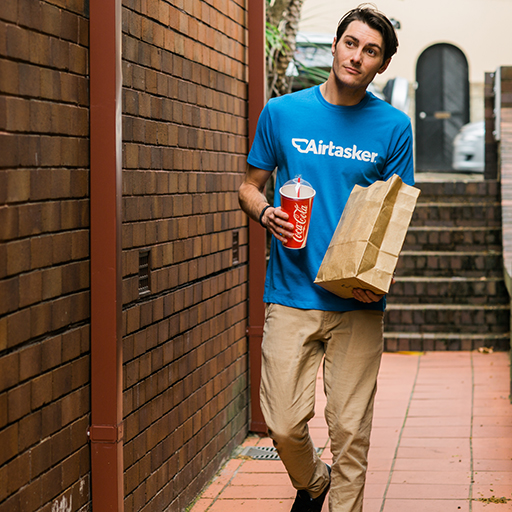 Get food delivered to your door with Airtasker